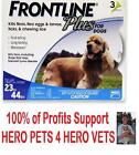 Frontline Plus For Dogs 23 to 44 lbs  23-44 Flea Protection 3 month