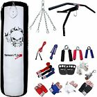 TurnerMAX Punch Bag Sets Boxing Training Workout Mitt MMA 13 Piece,  2pc Bracket