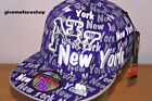 NY MULTI FITTED CAPS, PURPLE FLAT PEAK HATS, HIPHOP BLING BASEBALL STREET URBAN