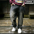 Hip-Hop JSMIX Mens Jeans Pants Baggy Loose Denim Streetwear Trousers #M8