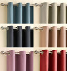 Heavy Weight Soft Woven Chenille Plain Eyelet Ring Top Thermal Blackout Curtains