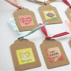 100pcs Brown Kraft Paper Gift Tags Wedding Scallop Price Label Luggage Kraft