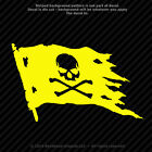 Jolly Roger Set of 2 Skull and Cross Bones Pirate Flag 3.4 inch Vinyl Decals