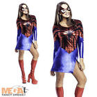 Sexy Spidergirl Superhero Ladies Fancy Dress Marvel Comic Book Spiderman Costume