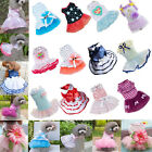 Внешний вид - Various Cute Pet Dog Love Dress Lace Skirt Princess Clothes Party Dress Santa