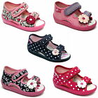 Girls sandals canvas shoes slippers trainers infants kids size 3 - 9 UK NEW