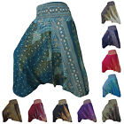 NEW Harem Pants Trousers Hippy Hippie Gypsy Festival Peacock Genie Aladdin Baggy