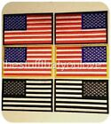 "CHOICE OF 4"" x 2.5"" AMERICAN FLAG iron / sew on PATCHES Appliques Biker Military"
