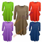 LADIES FLARED DRAPE EMPIRE MAGIC SWING DRESS WOMENS PLAIN TOP SIZES 8 10 12 14