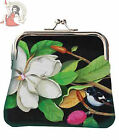 WOODY MISS WHITE FLORAL retro COIN PURSE