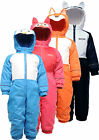 Regatta Mudplay All-in-one Suit Kids Waterproof Breathable Fleece Lined RKP111
