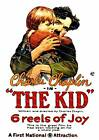 The Kid 1921 Charlie Chaplin ,  Vintage movie poster reproduction.