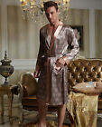 Wholesale High Quality Silk Blend 1pc Men's Sleep Robe/ Pajama Set L/XL/2XL/3XL