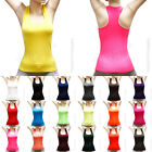 womens seamless Ribbed Racer Back stretch tank top Yoga cami hot tee sports