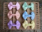 """My First Set Of Pastel Coloured Bow Hairclips/ Set Of Six 2"""" Grosgrain Bows"""