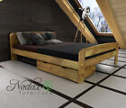 "*NODAX* Wooden Furniture Pine King Size Bed 5ft/Select Underbed Storage - ""F2"""