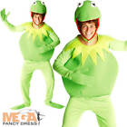 Kermit Frog Mens The Muppets Fancy Dress TV Costume NEW