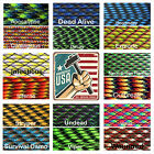 Zombie Colors 550 Paracord Type III 7 strand 550 parachute cord 1ft - 100 ft