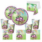 Garden Fairy Party Tableware, Plates, Cups, Napkins, etc FAST FREE POSTAGE!