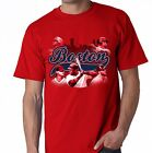 Boston Red Sox Team Script Shirt Red  Adult Size T - Shirt