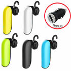 Bluetooth wireless Headset Hands Free Handsfree for Smartphone iPhone Android