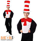 Cat In Hat Jumpsuit Fancy Dress Book Week Animal Adults Costume Teacher Outfit