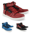 Crosshatch High Post Top Trainers New Mens Coloured Shoes Fashion Black Red Blue