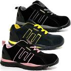 LADIES SAFETY BOOTS NEW WOMENS LEATHER STEEL TOE CAPS HIKING TRAINERS SHOES SIZE