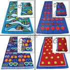 BEACH TOWEL & BAG MATE 100% COTTON SWIMMING GYM TRAVEL CAMPING SPORT HOLIDAY NEW
