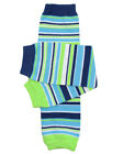 Boys Safari Stripe Leg Warmers Newborn Infant & Baby Toddler Sizes Lime Navy