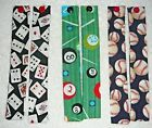 BOOKMARKS~Fabric & Button~Handcrafted~Sports Designs Vary~Set Of 2~NEW~FREE SHIP