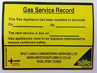 GAS SERVICE RECORD LARGE SAFETY LABELS PERSONALISED FOR FREE