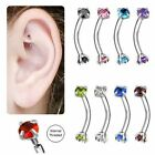 """Rook Earring Jewelry Internally Threaded Surgical Steel 16g 5/16"""" 8mm image"""
