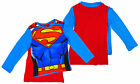 Boys SUPERMAN Muscle Body Long Sleeve Top with Cape 2 3 4 5 Years NEW