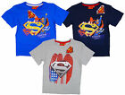 Boy's SUPERMAN Truth & Justice Cotton T-Shirt Top Tee 3 4 6 8 Years NEW