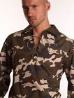 Gents Mens Green Camouflage Casual Party Ghillie Shirt, Leather Laces