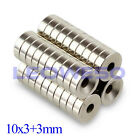 5/10/25/50/100 X Magnet 10x3mm with 3mm Hole Rare Earth Neodymium Magnet 740