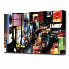 0347 LARGE LIGHTS TIME SQUARE NIGHT CANVAS PRINT