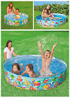 Snapset Rigid Wall Pool, Quick & Easy Set Garden Swimming Paddling Pool 3 Sizes