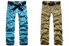 NEW Womens Girls Army Combat Cargo Pants Casual Baggy Loose Multi-Pocket Trouser