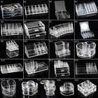 1PC Transparent Makeup Case Cosmetic Organizer Box Jewelry Storage Holder Onslae