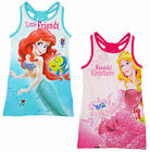 Girls Disney Princess Ariel Aurora Racer Back Summer Dress 3 4 5 6 Years NEW