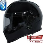 TORC T14B BLUETOOTH GLOSSY BLACK SOLID FULL FACE MOTORCYCLE HELMET DOT XS - XXL