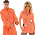 Mens Ladies Prisoner Fancy Dress Costume - Women's Police Uniform Outfit