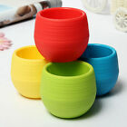 7 / 9.5CM Mini Round Plastic Plant Flower Pots Home Office Decor Planter