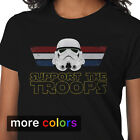 Star Wars Support The Troops Stormtrooper Womens T-shirt, R2D2 Darth Vader Tee $17.99 USD on eBay