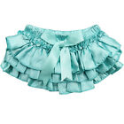 Aqua Ruffle Satin Diaper Cover Bloomers Cotton Girl Toddler Baby