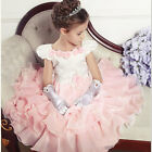 Toddler Girls Kids Flower Girl Formal Wedding Bridesmaid Party Christening Dress