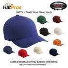 New Premium Flexfit Fitted Hat Wool Blend Baseball Cap 6477 YOUTH ALL COLORS