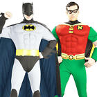 Deluxe Batman & Robin Mens Fancy Dress DC Comics Superhero Adult Costume Outfits